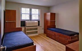 empty dorm room