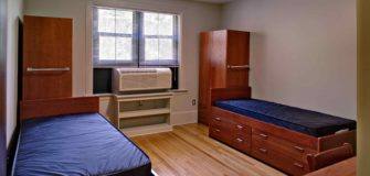 empty dorm room