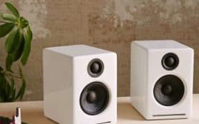 white dorm speakers
