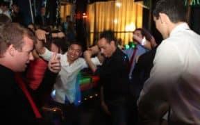 students dancing at club