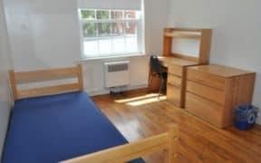empty clean dorm room