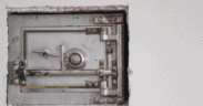 Metal Safe in Wall