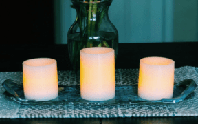 Three Fake Candles Lit
